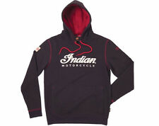 INDIAN MOTORCYCLE MEN'S WARBONNET IMC HOODIE SWEATSHIRT - BLACK