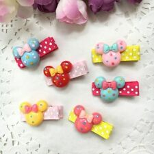 Dog Grooming Hairpins Pet bow Hair Clips Puppy cat mickey style resin Hair Clips