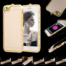 National Wind Crystal Diamond Bling Aluminum Case Cover Bumper For iPhone 6 6s
