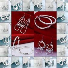 WHOLESALE FASHION JEWELRY SOLID Silver LADIES 925STERLING SILVER EARRING GIFT
