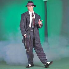 Mens 1920s Zoot Gangster Suit Costume 20s Decade Mobster Role Play Party Outfit
