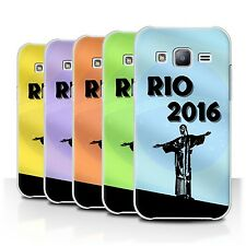 STUFF4 Phone Case/Back Cover for Samsung Galaxy J2/J200 /Rio Olympic