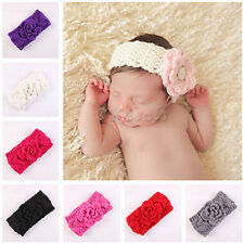 Baby Winter Ear Warmer Xmas Girls Crochet Knit Flower Hairband Headband Great