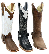 Ladies Genuine Leather Cowhide Western Cowgirl Boots Style-636409