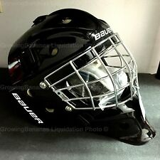 Bauer NME 3 Ice Hockey JR Goalie Mask! Helmet Facemask Black White Junior CSA
