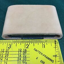 """Blevins Buckle Replacement Slides ~ 2"""" ~ 2 1/2"""" ~ 3"""" Leather covered """"Improved"""""""