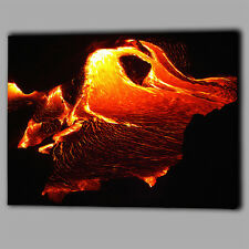 Hot Lava Fire Abstract Desgine Canvas Wall Art Picture Print Framed Large Melt