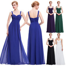 Straps Elegant Formal Evening Ball Gown Long Maxi Bridesmaid Cocktail Prom Dress