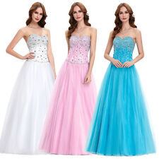 Womens Maxi Formal Ball Gown Masquerade Long Evening Party Prom Wedding Dress