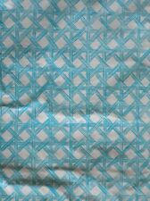 """New Summer Fun Vinyl Tablecloth Blue & White Basket Weave 52"""" Square & 60"""" Round"""