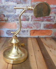 Vintage Desk Lamp Bankers Table Piano Light Adjustable Electric Brass Metal