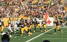 Steelers vs NE Patriots (2) Tickets Front Row Seats On the Goal Line 10/23/16