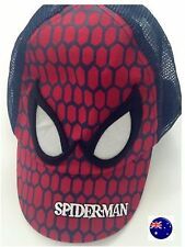 Boys kids Children Spiderman hero Beach Travel Sun Golf baseball Hat Cap