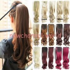 Tie Up Ponytail Blonde REAL THICK Clip in Hair Extensions Pony tail Straight New