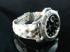 OT 20/16mm Python Skin strap fit your Rolex GMT Master I and II , Explorer II