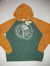 NWT Men's Denim & Supply Polo Ralph Lauren Colorblocked Graphic Pullover Hoodie