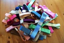 5m GROSGRAIN RIBBON 20mm to 25mm Blues, Browns, Greens & Greys. High Quality.