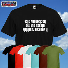 IF YOU CAN READ THIS..Funny Bike MTB Cycling Tshirt. various colours Sizes S-XXL