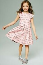 BNWT NEXT Girls Pink Sweetie Print Prom Party Dress 3-4 9-10 Years