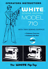 White Sewing machine 510, 710 Instruction or Service manual / Parts * on CD/PDF