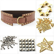 100pcs DIY Metal Punk Square Pyramid Spike Rivet Studs Leathercraft 6-12mm Cool