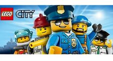 Lego City Minifigure Construction Worker Criminal Tow Truck Driver Cop Police