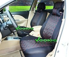 6 Colors Universal Car Seat Covers for Subaru Logo Front & Rear Total 5 seats