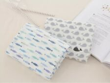 """Cotton Double Gauze Fabric Muslin Baby by the Yard Korean wide 55""""_Fish & Whale"""