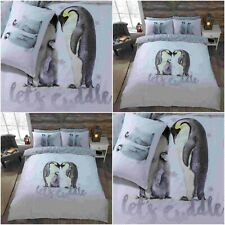PENGUIN COLONY ANIMAL  DUVET QUILT COVER BED SET WITH PILLOWCASE, GC