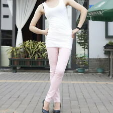 Pink XS Women Sexy Pencil Pants Slim Fit Skinny Stretch Jeans Trousers Hot ZD