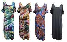 Ladies PLUS SIZE Holiday Resort Kaftan Maxi Dress Sizes 10 12 14 16 18 20 22 24