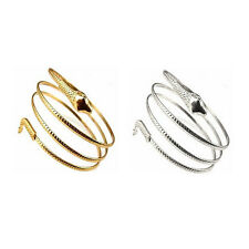Fashion Coiled Snake Spiral Upper Arm Cuff Armband Bangle Bracelet AS