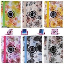 Peach blossom Pattern 360° Rotating PU Leather Case Cover Stand for iPad tablets