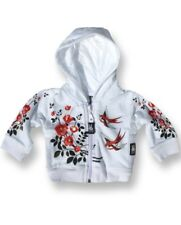 Six Bunnies Birds n Roses Baby Hoodie Alternative Retro Rockabilly Jumper Hoody