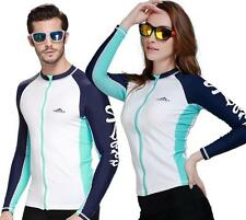 New Long Sleeve Rash Guard Swim Surf Shirt Swimwear UPF 50+ Skins Sun Shirt