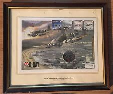 60th Anniversary of D Day Coin First Day Cover in Photograph Frame with glass(5)