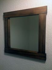 Wooden Mirror, Small Handmade Wall Mirror, Wood Framed Mirror