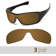 3 Pair Optico Replacement Polarized Lenses Oakley Antix Sunglasses Sport Brown