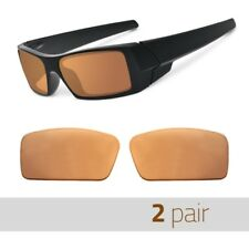 2 Pair Optico Replacement Polarized Lenses for Oakley Gascan S Sunglasses Brown