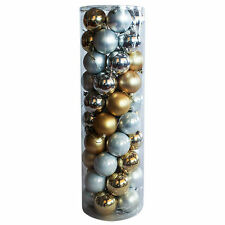 Christmas Baubles Ball Silver Gold 45 Balls Wedding Party Decoration 60 70 80mm