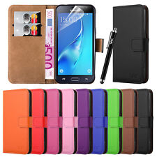 Various Samsung Galaxy Phone Leather Wallet Flip Book Case Cover Pouch Stand