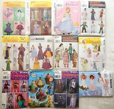 Assorted Children's Girls' Costume Sewing Patterns - UNCUT - You Choose!