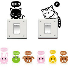 DIY Cat Removable Switch Art Vinyl Wall Stickers Decal Mural Home Decor Cartoon