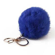 Fashion Cute Soft Fur Ball Handbag Key Chain Cell Phone Car Pendant Key Ring CA
