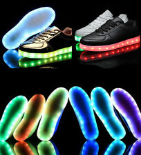 New Mens Women LED Night Light Trainer Lace-up Sneakers Kids Sport Casual Shoes