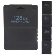 Data Storage Memory Card for Sony Playstation 2 PS2 Console Video Game  Black