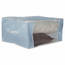 Finlay & Smith STORAGE BAG Stripes with Handle Folds Flat Blue - Jumbo or Large