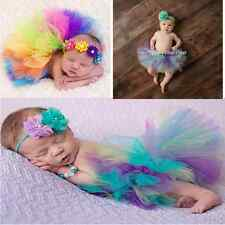 Baby Girl Newborn Toddler Fluffy Tutu Skirt Headband Photo Prop Costume Outfits