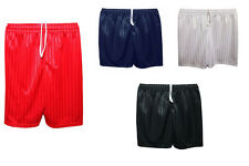 Boys Girls Unisex Shadow Stripe PE Shorts Football Games School Uniform Wear