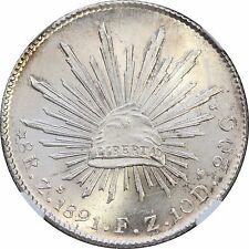 Mexico 8 Reales Zs 1891 F.Z. Zacatecas, NGC MS64.